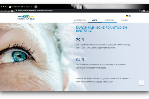 HumanOptics AG TRIVA Digitalisierung Sehvermögen