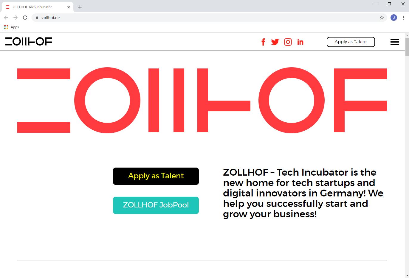 Zollhof Innovations zentrum Tech Inkubator