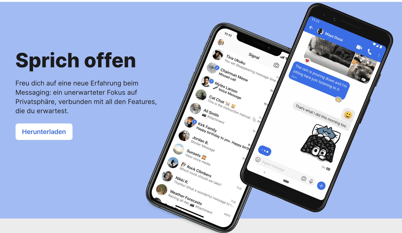 signal whatsapp alternative datenschutz