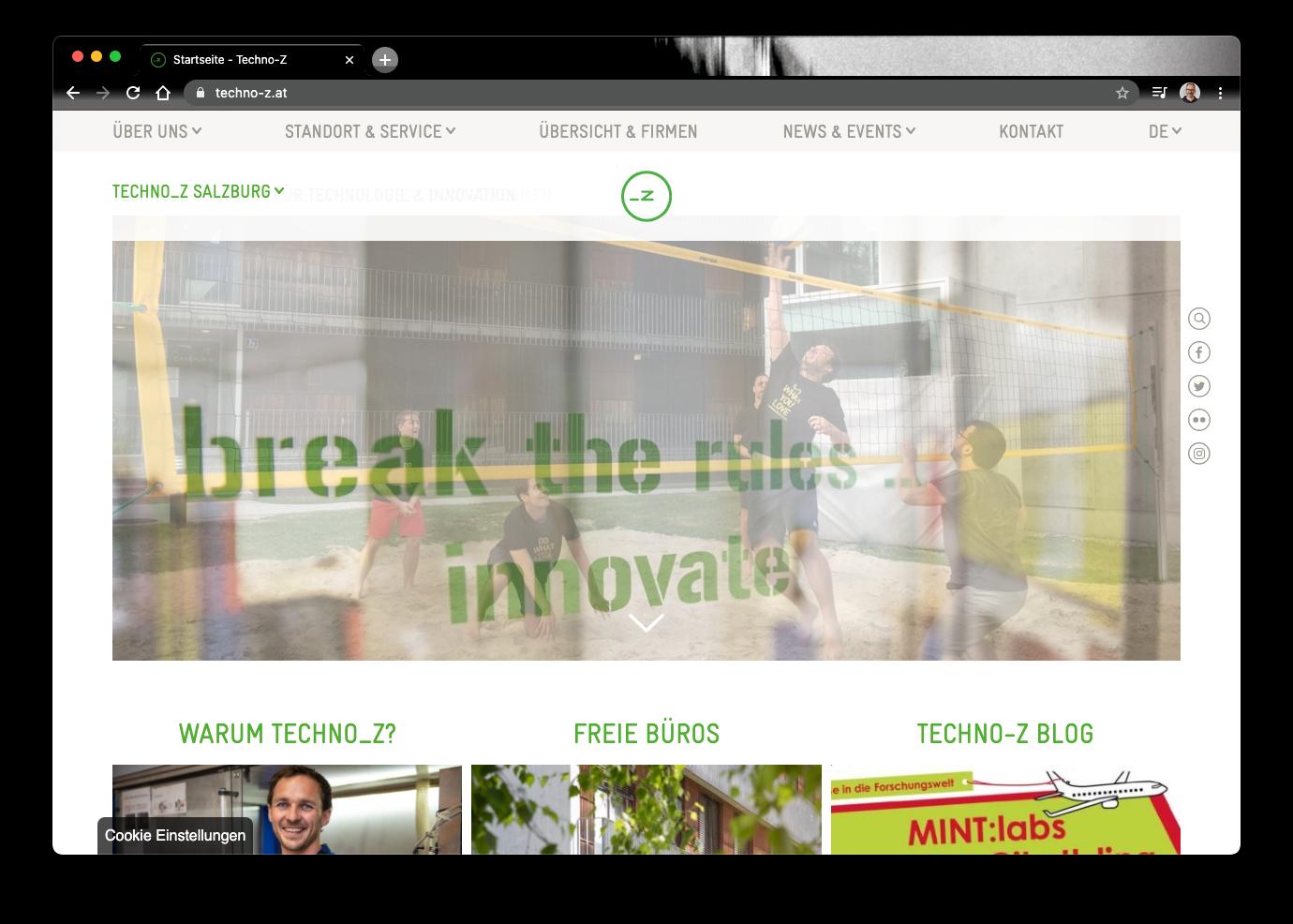 Techno-Z Salzburg Oesterreich Startups